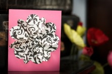 Flower By Hearts-Card